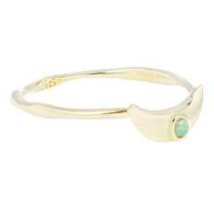 Crescent Ring in Opal