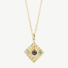 Compass Necklace in Iolite/Opal