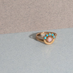 Bridge Ring in Turquoise