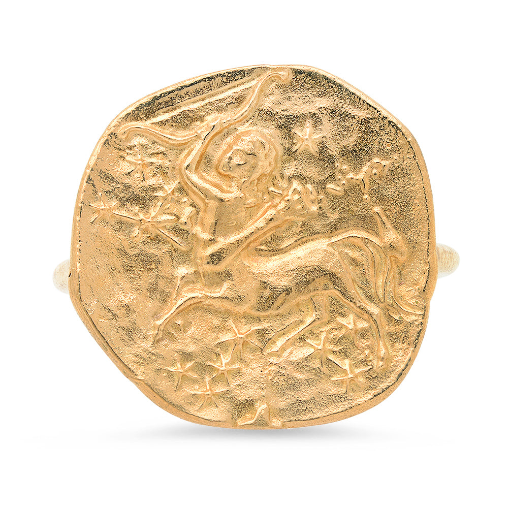 Sagittarius Ring - 18K Gold Plated
