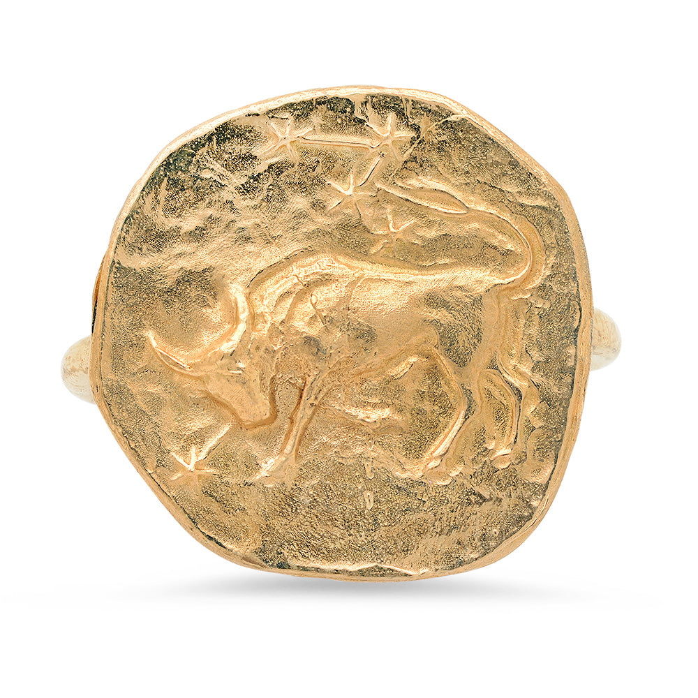 Taurus Ring in Gold