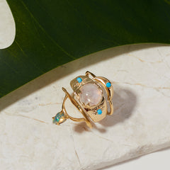 Drip Ring in Opal