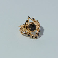 Siggy Ring in Black Spinel