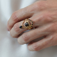 Cleo Ring in Black Spinel