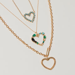 Heart Necklace in Turquoise