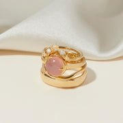 Under The Stars Ring in Pink Chalcedony