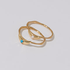Crescent Ring in Turquoise