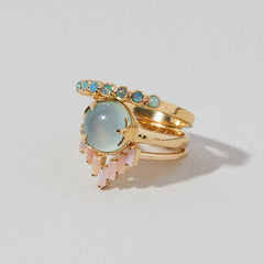 Crown Ring in Opal