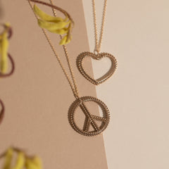 Woven Peace Necklace in Gold