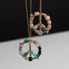Mosaic Peace Necklace in Pink Cloud Palette