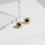 Starburst Studs in Black Onyx