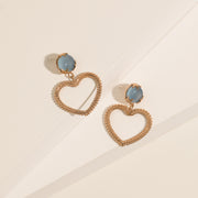 Woven Hearts with Stars in Chalcedony