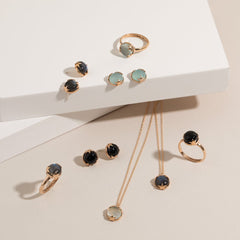 Under The Stars Studs in Chalcedony