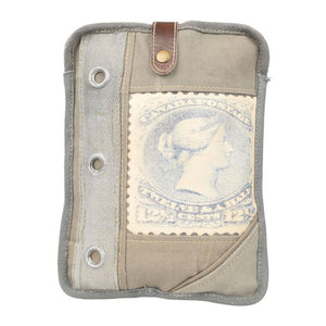 Canvas Stamp iPad Tablet Holder Bag