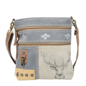 Deer Mixed Fabrics Crossbody