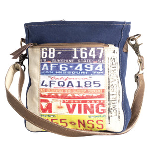License Plate Crossbody