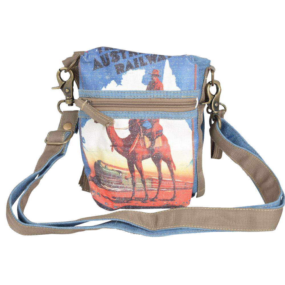 Camel 3 Way Crossbody/Shoulder Bag/ Festival Belt