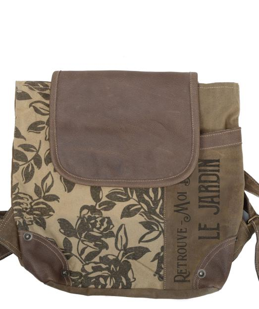Floral Le Jardin Flap Over Small Backpack