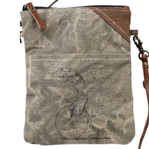 Bike Lady Passport Bag