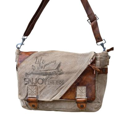Enjoy The Ride Airplane Messenger Bag