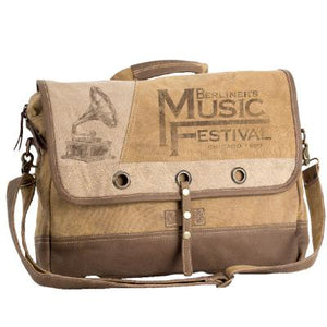 Music Festival Laptop Messenger Bag