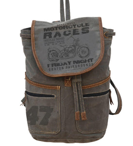 Motorcycle Races Knapsack