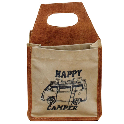 Happy Camper VW 6 Pack Canvas Tote