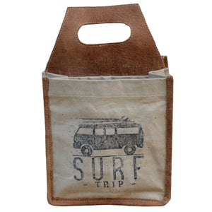 Surf Trip VW 6 Pack Canvas Tote
