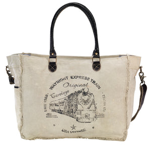 Midnight Express Train Tote with Strap