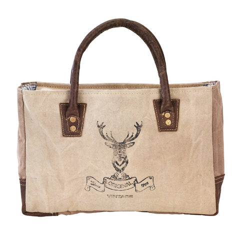 Original Vintage Deer Head Small Tote