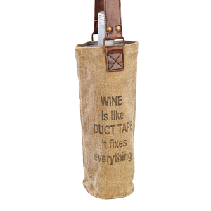 Wine is like Duct Tape Canvas Wine Tote