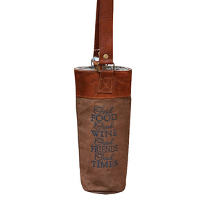 Good Food, Wine, Friends, Time Wine Tote