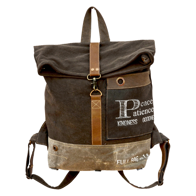 Peace and Patience Flap Over Backpack