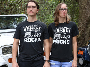 Like My Whiskey & Jeeps on Rocks Unisex Tee