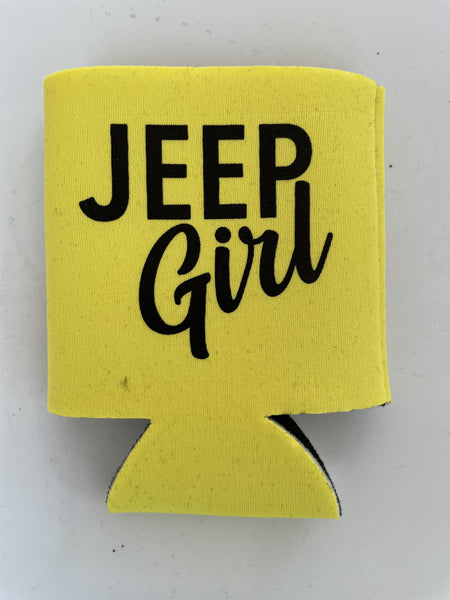 Jeep Girl Can Koozie