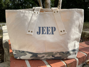 JEEP Modern Camo Canvas Tote Bag