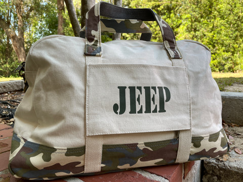Jeep Duffel Weekender Classic Camo Travel Bag