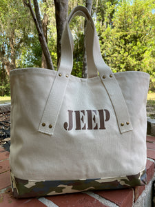 JEEP Classic Camo Canvas Tote Bag