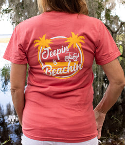 Jeepin' & Beachin' Unisex Tee NEW DESIGN