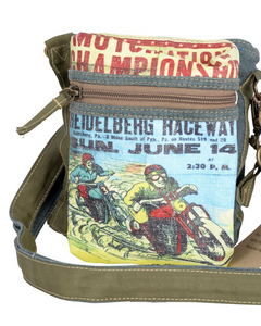 Motorcycle Races 3 Way Crossbody/Shoulder Bag/ Festival Belt