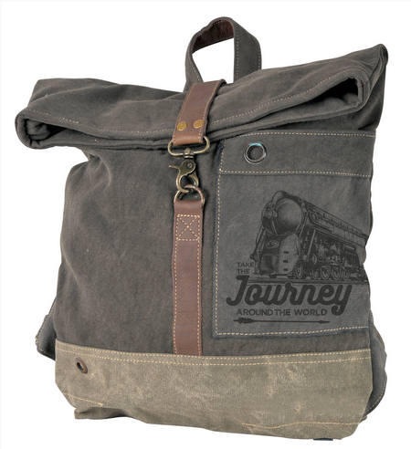 Journey Around the World Flap Over Backpack