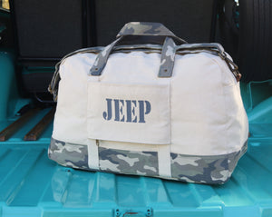 Jeep Duffel Weekender Modern Camo Travel Bag
