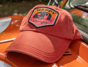 Happy Camper Patch Orange Dad Cap