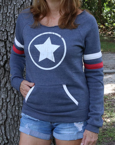 White Star Maniac Ladies Fleece Sweatshirt