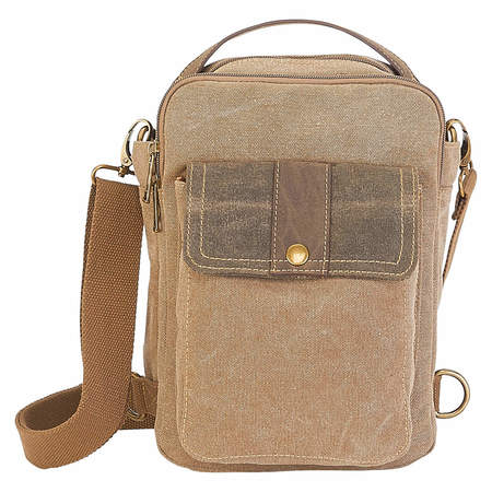 Washed Canvas Crossbody Khaki Sling Bag