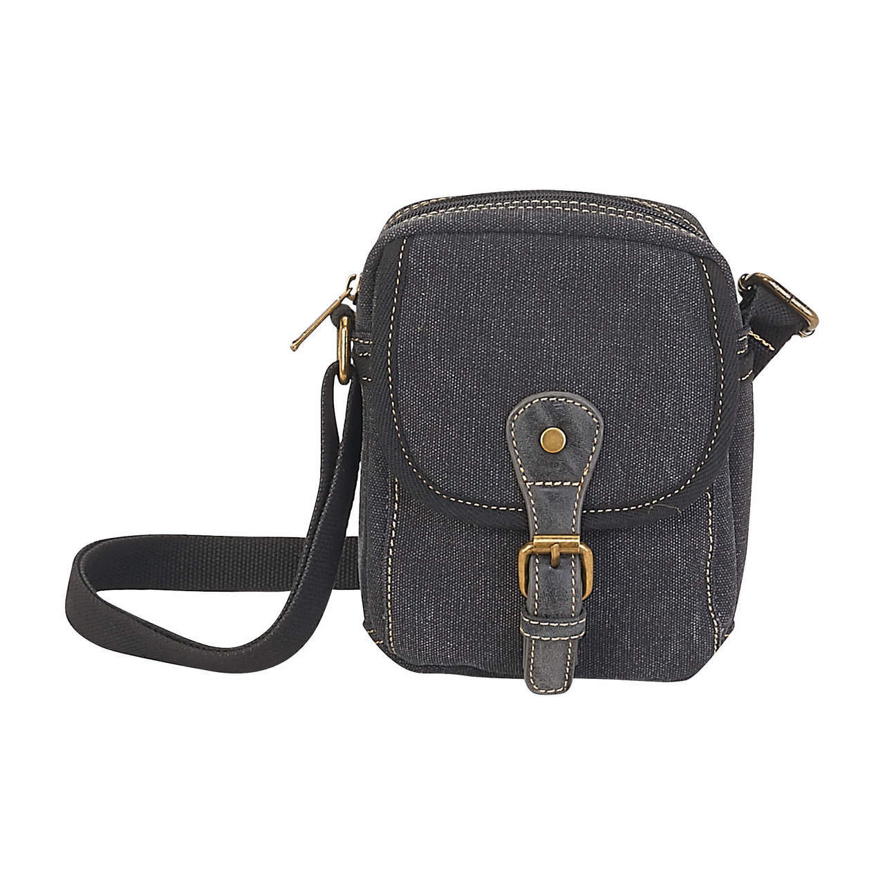 Flora Small Crossbody Charcoal Bag