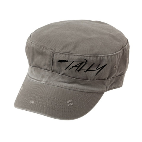 Tally Seminole Grey Distressed Fidel Cap
