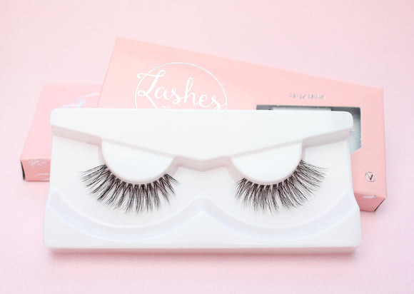 Clear Band Faux Mink Lashes - Basic