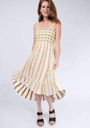 Load image into Gallery viewer, Smocked Top Sun Dress