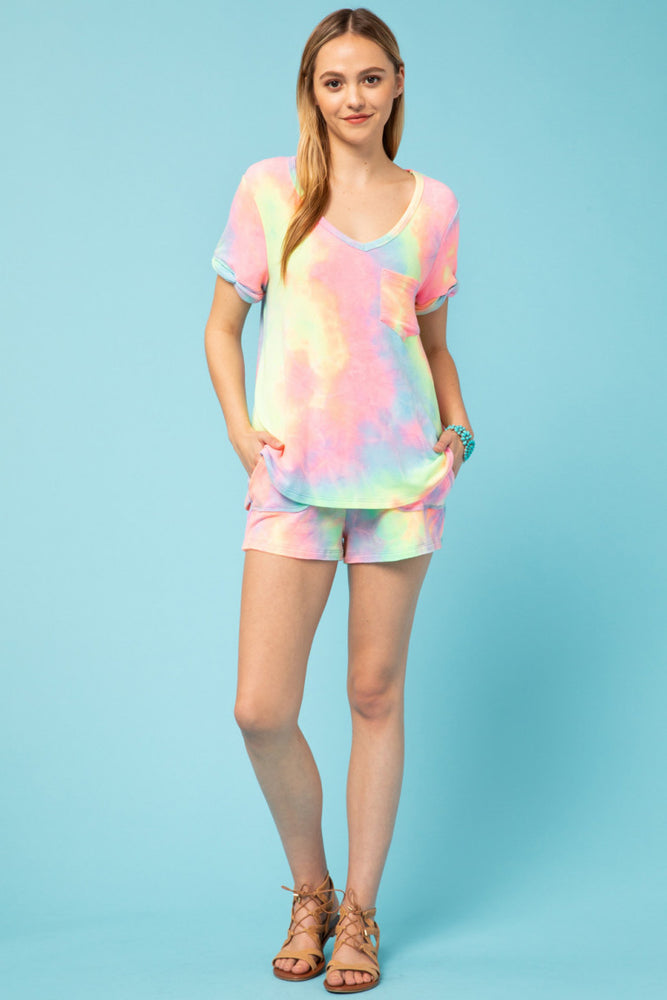 Load image into Gallery viewer, Tie Dye Short Set